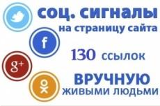 130 ссылок из социальных сетей на ваш сайт 22 - kwork.ru