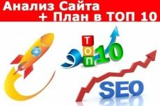 Анализ сайта, аудит сайта + план раскрутки, выхода в ТОП 4 - kwork.ru
