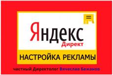 Полная настройка контекстной рекламы! Yandex/Google 10 - kwork.ru