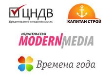 Акварельный логотип 14 - kwork.ru