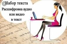 Транскрибация 120 минут аудио, видео. рус. , англ. , итал. языки 18 - kwork.ru