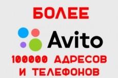 Сбор контактов из Авито 21 - kwork.ru