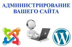 Сайт-визитку на Wordpress, Joomla 3 - kwork.ru
