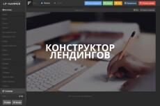 Продам визуальный конструктор лэндингов (landing) 6 - kwork.ru