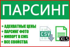 Парсинг любой информации в интернете. Cайты, товары, клиенты, данные 9 - kwork.ru