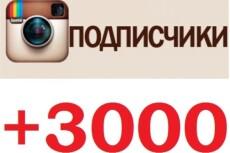 3000 подписчиков в инстаграм аккаунт 3 - kwork.ru