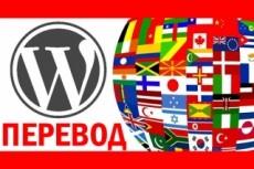 Перевод темы Wordpress с английского на русский язык 5 - kwork.ru