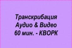 Транскрибация аудио/видео 20 - kwork.ru