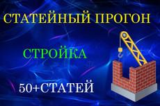 Статейный прогон по 40 сайтам + Бонус 30 - kwork.ru