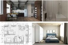 Создам 3д модель квартиры, дома или коммерческого объекта 32 - kwork.ru