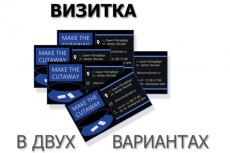 Нарисую для Вас два варианта визитки 22 - kwork.ru