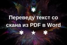 Печатаю  текст из любого PDF, DjVu,JPG  в документ WORD 6 - kwork.ru