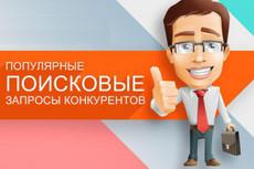 Выгрузка запросов конкурентов через Keys. so 7 - kwork.ru
