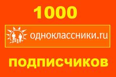 1000 подписчиков в вашу группу в одноклассниках - живые люди + Бонус 28 - kwork.ru