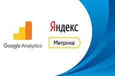 Установка Яндекс Метрики, Google Analitics и подключение Вебмастера 10 - kwork.ru