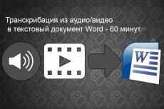 Предоставляю услугу перепечатки текста из аудио и видеозаписей 12 - kwork.ru