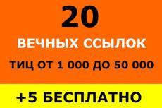 20 неприлично жирных ссылок. Общий ТИЦ трастов 150.000+ 18 - kwork.ru