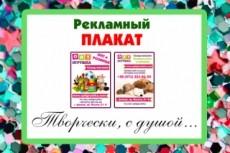 Рекламный плакат 12 - kwork.ru