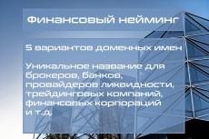 Нейминг 25 - kwork.ru