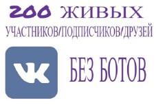 500 живых участников в группу ВК, ВКонтакте, без ботов и программ 9 - kwork.ru