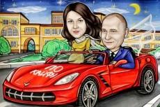 Дружеский шарж 40 - kwork.ru