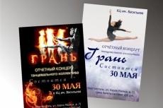 Афиши,плакаты 10 - kwork.ru