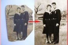 Восстановление старых фотографий, ретушь и окрашивание чб фото 17 - kwork.ru