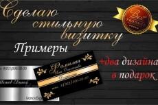Нарисую для Вас два варианта визитки 29 - kwork.ru