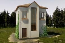 3D модель здания 34 - kwork.ru