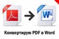Извлечение текста PDF, JPG-формата в Word и его редактирование 3 - kwork.ru