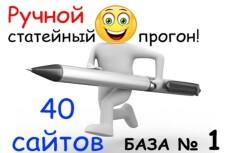 Статейный прогон по 40 сайтам + Бонус 28 - kwork.ru