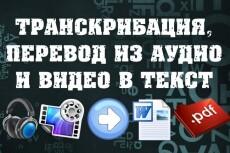 Транскрибация видео-аудио в текст 22 - kwork.ru