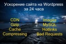 Ускорю Ваш сайт на WordPress 21 - kwork.ru