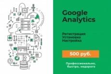 Установка Google Analytics + настройка целей + дашборд 14 - kwork.ru