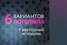 Логотип, 2 варианта + визитка. Исходники psd+png в подарок 16 - kwork.ru