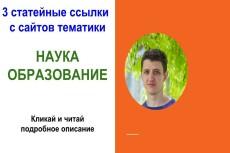270+ статейных ссылок на ваш сайт 11 - kwork.ru