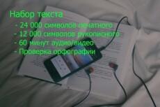 Напечатаю текст 33 - kwork.ru