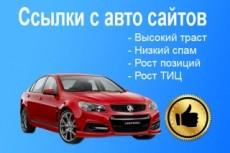 10 жирных ссылок с сайтов автотематики 3 - kwork.ru