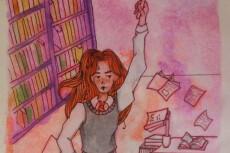 Нарисую иллюстрацию черной гелевой ручкой 10 - kwork.ru