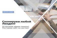 Скопирую landing page с виджетами или сделаю копию многостраничного 22 - kwork.ru