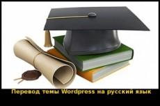 Русифицирую шаблон WordPress 18 - kwork.ru