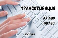 Транскрибация. Расшифровка аудио, видео в текст 20 - kwork.ru