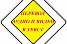 Транскрибация. Расшифровка текста с аудио или видео, фото или скана 18 - kwork.ru