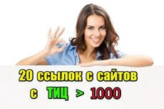 25 супер жирных ссылок. Общий ТИЦ сайтов более 150.000 12 - kwork.ru