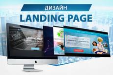 Дизайн лендинга 22 - kwork.ru
