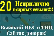 25 супер жирных ссылок. Общий ТИЦ сайтов более 150.000 35 - kwork.ru