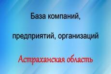 База компаний, предприятий, организаций Московской области 25 - kwork.ru