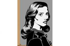 Флэт портрет Дот - арт с эффектом фото объема 25 - kwork.ru