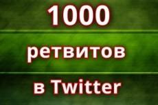 1000 ретвитов в Твиттер 5 - kwork.ru