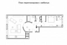 План расстановки мебели 13 - kwork.ru